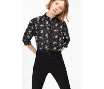Bluse aus Seiden Mix black