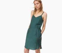 Trägerkleid aus Cupro Mix lorbeer green