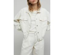 Jacke aus italienischem Baumwoll Mix linen white