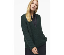 V-Pullover aus Royal Baby Alpaka Mix hamptons green