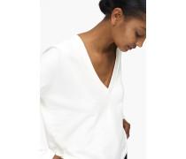 Sweatshirt mit V-Ausschnitt blanched almond