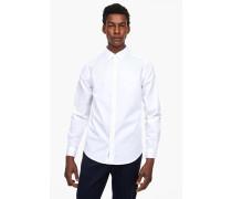 Hemd aus Baumwoll-Popeline white