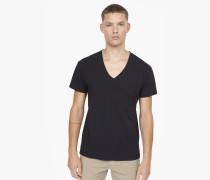 T-Shirt mit V-Ausschnitt black
