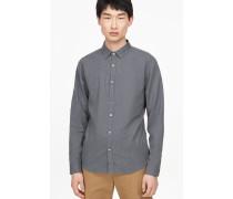 Hemd aus Melange Garn dark grey melange