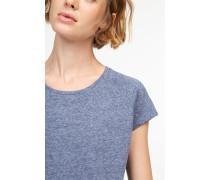 T-Shirt aus softem Melange Jersey navy
