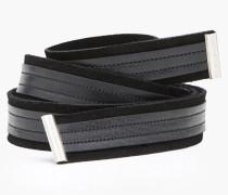 Bindegürtel aus Leder black