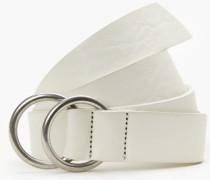 Ledergürtel mit Ringschließe white