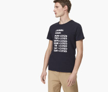 T-Shirt mit Print navy