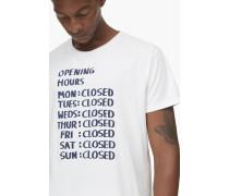 T-Shirt mit Print milk