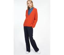 Alpaka Pullover deep red