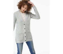 Cardigan aus Alpaka Mix light grey melange