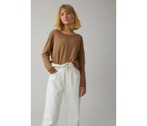 Pullover aus Leinen & Baumwolle golden oak