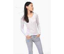Luxury Basic Langarmshirt white