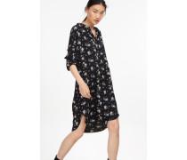 Kleid mit Blumen Print black