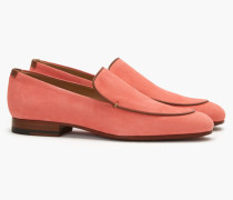 Loafer aus Veloursleder hot pink