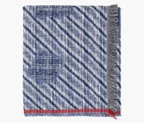 Schal aus Baumwolljacquard dark denim blue