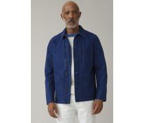 Worker Jacket aus japanischem Denim fading indigo