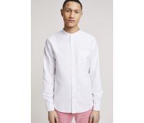 Oxford Stehkragen Hemd white
