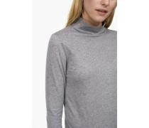 Langarmshirt mit Kaschmir-Anteil grey dust melange