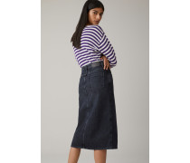 Pencil Skirt aus Black Denim