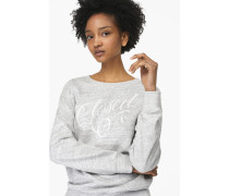 Sweatshirt mit Stickerei – designed for  by Faust light grey melange