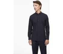 Hemd aus Baumwoll-Popeline navy