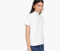 T-Shirt mit Stehkragen blanched almond