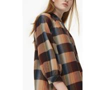 Kleid aus Viskose-Baumwoll Mix amber