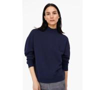 Sweatshirt mit Stehkragen navy