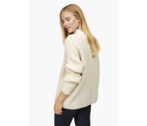 V-Pullover aus Royal Baby Alpaka Mix light champagne