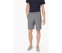 Shorts aus Stretched Cool Wool light grey melange
