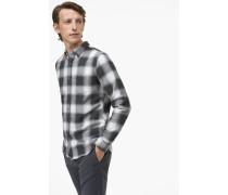 Under Button Down Hemd aus Doubleface grey antra