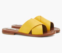 Sandaletten mit gekreuzten Riemen yellow poppy