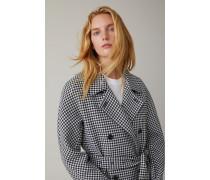 Oversized Checked Coat