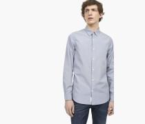 Hemd aus Baumwoll-Popeline grey antra