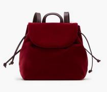 Rucksack aus Samt bordeaux