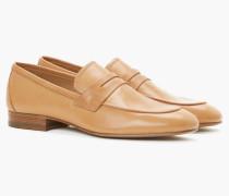 Loafers aus Glattleder caramel