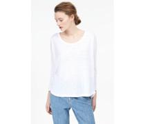 Leinen Langarmshirt white
