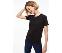 T-Shirt aus leichtem Jersey black