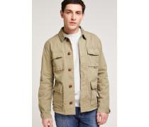 Field Jacket aus Baumwollstoff vintage green