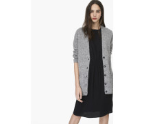 Cardigan aus Alpaka Mix grey heather melange