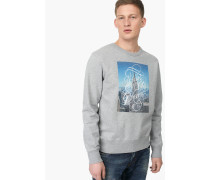 Melange Sweatshirt – designed for  by Faust light grey melange