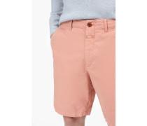 Shorts aus Canvas dusty pink