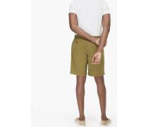 Shorts aus Canvas tropical green