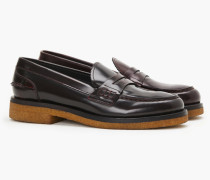Loafers mit Kreppsohle dark red