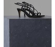 Slingback Sandalen aus Veloursleder