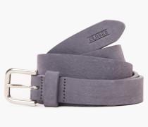 Ledergürtel mit Metallschließe sky grey