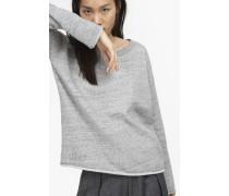 Sweatshirt aus Baumwolle light grey melange
