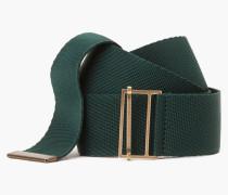 Unifarbener Textilgürtel lorbeer green