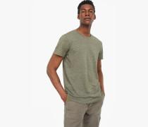 T-Shirt aus Melange Jersey olive